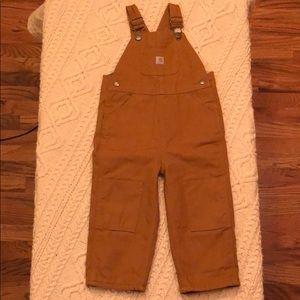 Toddler Boys Carhartt Bibs. Size 2T